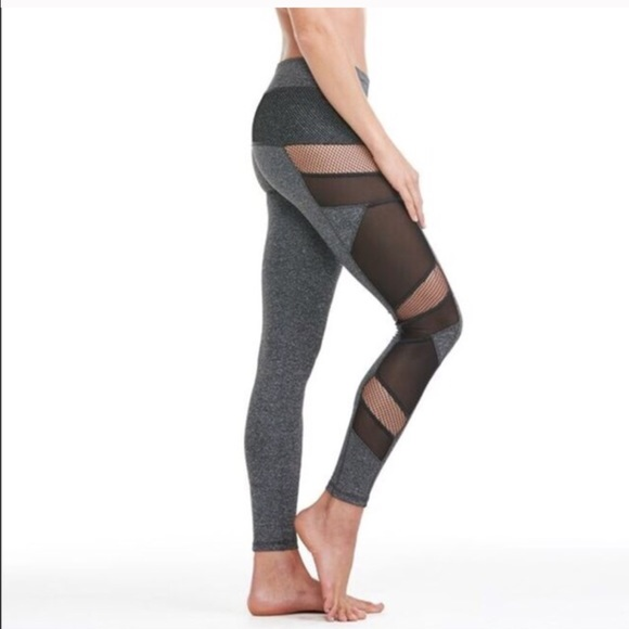 f1405f63fc666 Electric Yoga Pants | The Sexy Mesh Yoga Panel Leggings In Charcoal ...