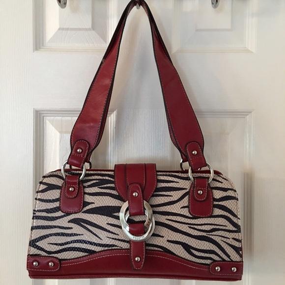 Rosetti Bags Red Black Zebra Print Shoulder Bag Poshmark
