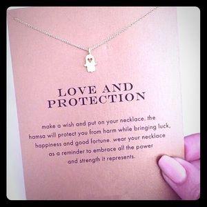 Jewelry - SILVER Hamsa Hand Dainty Pendant Necklace
