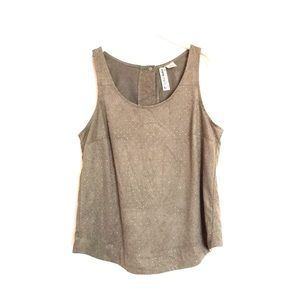Urban Outfitters Tops - UO tan gold dotted faux suede tank medium