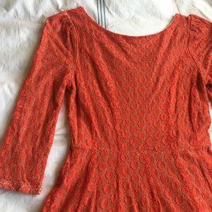 Gianni Bini Dresses & Skirts - Gianni Bini orange textured fit and flare dress