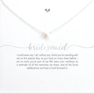 Jewelry - BRIDESMAID Imitation Pearl Dainty Pendant Necklace