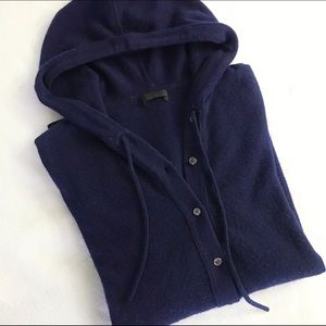 [J. Crew] Collection Cashmere Getaway Hoodie