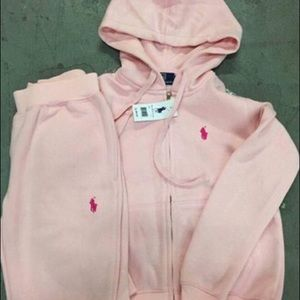 068ea6a72d6 Polo by Ralph Lauren Other - Pink polo sweatsuit I m looking for it