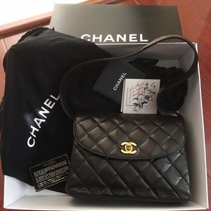 CHANEL Vintage Quilted Flap Shoulder Bag