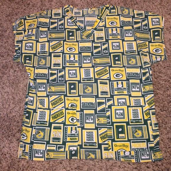 920a277588d Green Bay Packers scrub top XL. M_5873ee89c2845615ba1255d7