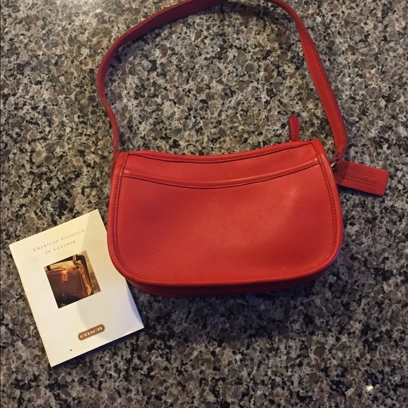 85% off Coach Handbags - Small Red Coach Bag from Pam's closet on ...
