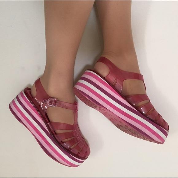 8a00c0f2902 Rare Vintage Melissa Platform Jelly Sandals. M 5873ef815a49d0c206126300
