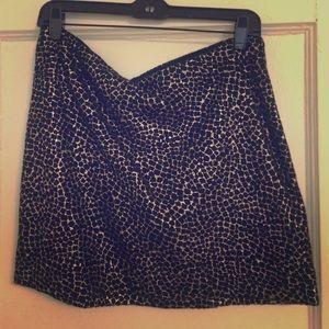 DVF Metallic wool skirt