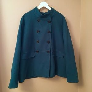 Old Navy Jackets & Blazers - Old Navy Teal Pea Coat