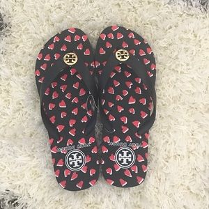 Tory Burch Shoes - Tory Burch Heart Flip Flops 💕❤️💕