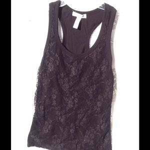 Ambiance Apparel Tops - Tank top size M lace front