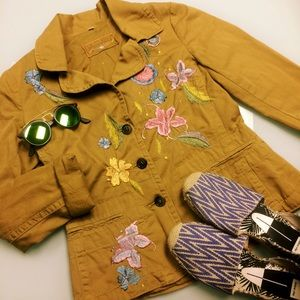Johnny Was Floral Embroidered Jacket