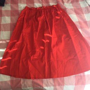Vintage Dresses & Skirts - Vintage Red Skirt