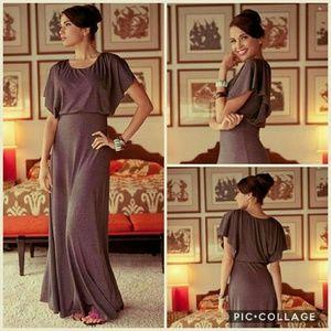 Shabby Apple desert modern gray maxi dress