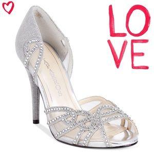 "Caparros Shoes - *NWB* Caparros 'Rockette"" heel in silver glitter"