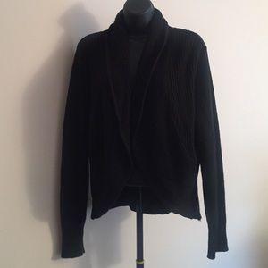 Black H&M ribbed sweater cardigan