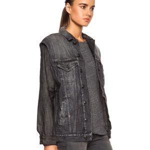 R 13 Jackets & Blazers - R13 washed black double denim jacket
