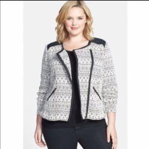 Sejour Jackets & Blazers - Sejour Knit Moto Jacket