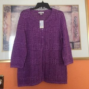 Christopher & Banks Sweaters - Purple cardigan