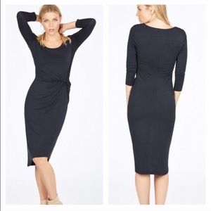 JustFab Dresses & Skirts - NWT Black Knotted Jersey Dress Bodycon