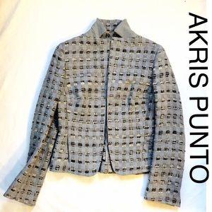 Akris Punto Jackets & Blazers - Akris Punto Gray Stand Up Collar