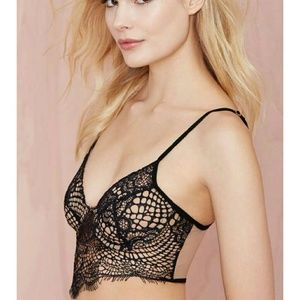 b9616baff0 For Love and Lemons Intimates   Sleepwear - SKIVVIES Bat Your Lashes Lace  Bralette -Black