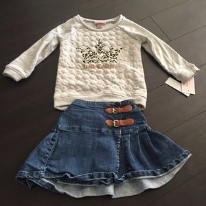 3T girl top and skirt bundle. Juicy couture, gap