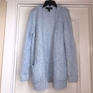 16f6432cd6 Forever 21 Sweaters - Fuzzy Light Blue Cardigan