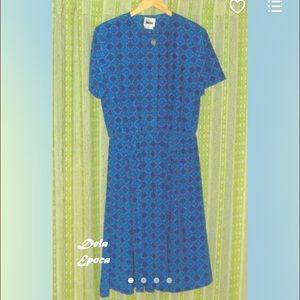 1980's Vintage Diamond Patterned Dress XL/(16-18)