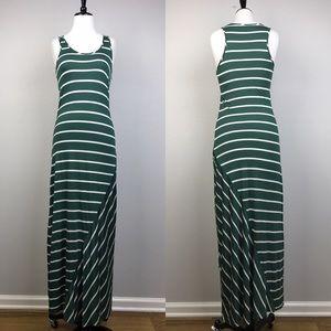 Kensie green stripe maxi dress