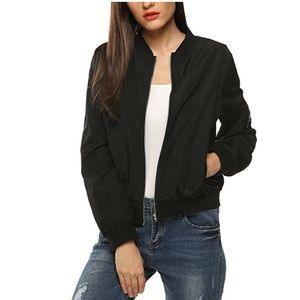 Jackets & Blazers - Black Bomber Jacket