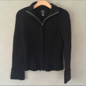EUC / INC Black Zip-up Sweater / S
