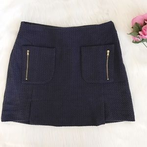 Zara Dresses & Skirts - Zara Basic navy blue mini skirt with front pockets