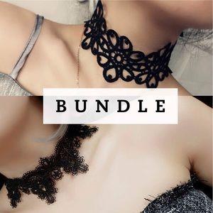 Jewelry - 🎉Bundle! Sexy lace choker