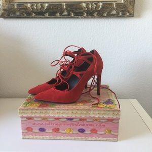 Jeffrey Campbell Shoes - Jeffrey Campbell Brielle Red Heels 👠  Size 9