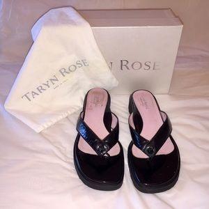 Taryn Rose Patten Leather Slides