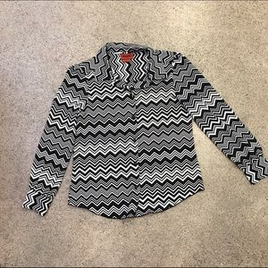 Missoni for Target Tops - Black and white zig zag top
