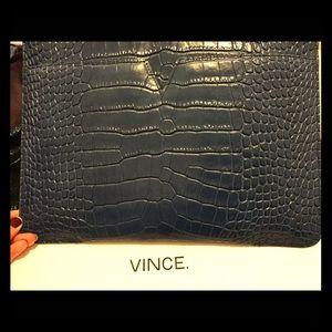 Vince top zipper clutch. Brand new in box!