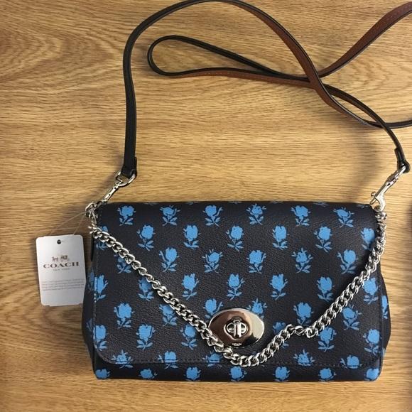 f73b2f98226 Coach Bags | Blue Rose Handbag | Poshmark