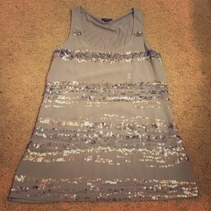 Gray sequin express tank top. Never worn.