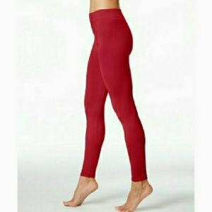 First Looks Pants - First Looks Deep Red Seamless Leggings