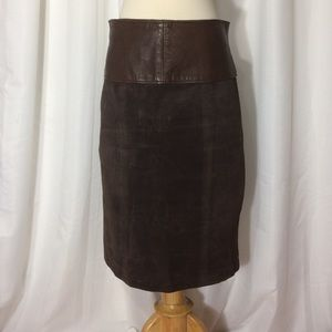 Maxima Dresses & Skirts - Leather and suede pencil skirt