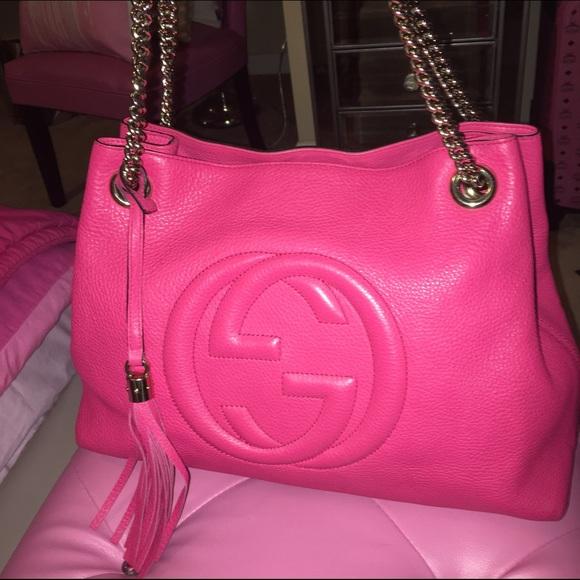 227a5502f542 Gucci Bags | Pink Soho Leather Tassal Chain Bag | Poshmark