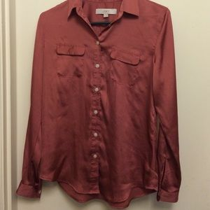 Women's Ann Taylor Loft blouse/ button down shirt