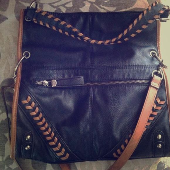ed8bcedd0f Jessica Simpson Handbags - Jessica Simpson Black Large Crossbody Purse