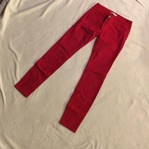 Red skinny jeans! Size 2, refuge brand!