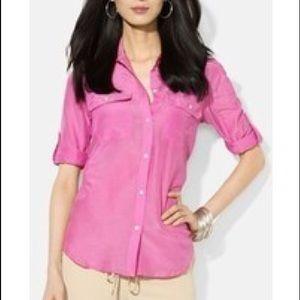 LOFT Tops - Pink work shirt