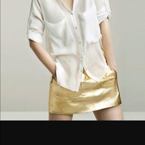 Zara Dresses & Skirts - Gold Mini Skirt from Zara