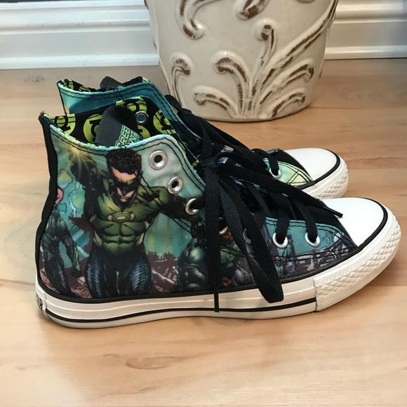c13d1d9547a9 Converse Shoes - Green Lantern Converse
